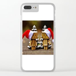 father and mother chrismass Clear iPhone Case