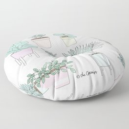 House Plants Guide Floor Pillow
