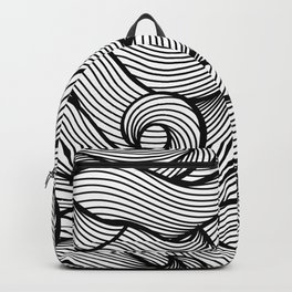 Wavy Curled Pattern Backpack