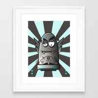 fault Framed Art Prints featuring Fault 45 03 (its not his fault) by Face Leakage
