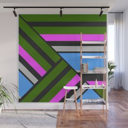 Striped triangles 5 Wall Mural