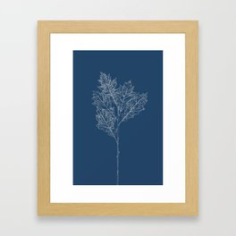 English Oak Blueprint Framed Art Print