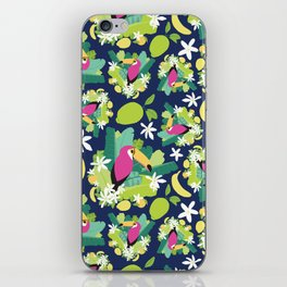 Toucans Everywhere - Blue iPhone Skin