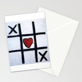 Real Love - How To Win at Tic-Tac-Toe by Scott Richard Stationery Cards
