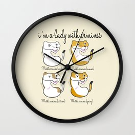 I´m a lady with Ermines (c) 2017 Wall Clock