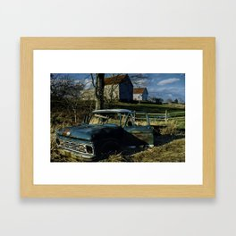 Rusted Metal Framed Art Print