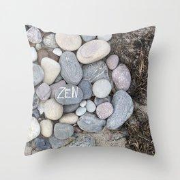 Zen Beach Pebble Throw Pillow