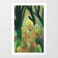 Undead fanatasy Art Print