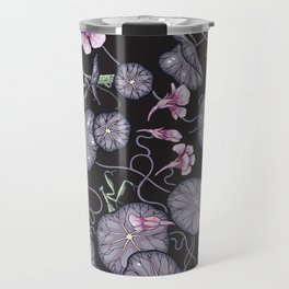 Black Indian cress garden. Travel Mug