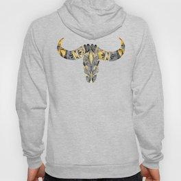 Water Buffalo Skull – Black & Yellow Hoody