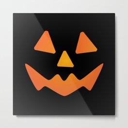 Halloween Pumpkin Face #3 Metal Print