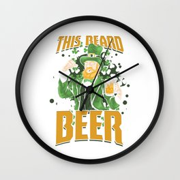 St Paddy's Brewery Ciders Irish Ireland Gift Beer St Patrick's Day Wall Clock
