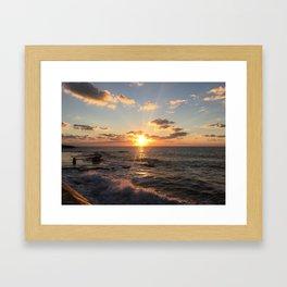 Mediterranean Sunset (Joppa) Framed Art Print