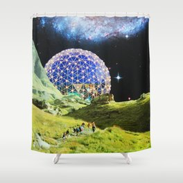 Lunar Outpost 2079 Shower Curtain