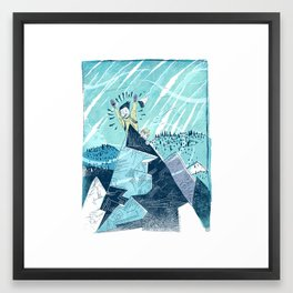 Summit Excitement! Framed Art Print