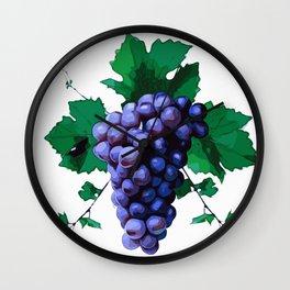 Blue Grapes Wall Clock
