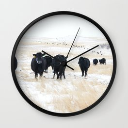 The cows come home Wall Clock