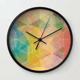 Color Pattern Wall Clock