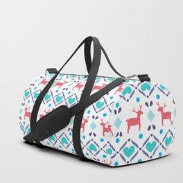 Deers & Hearts Pattern Duffle Bag