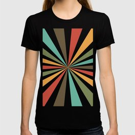 Retro Stripes In Transparent Background, A Set Of Several Vintage Classic Colors, No 02 T-shirt