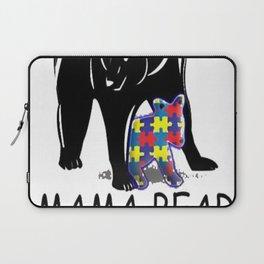 Autism Awareness Shirts - Mama Bear T Shirt Laptop Sleeve