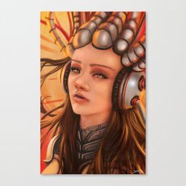 Cybernetic Girl Canvas Print