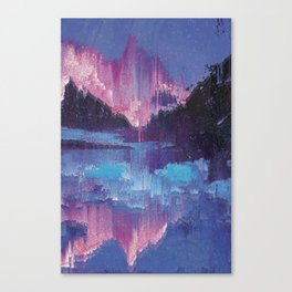 Glitched Landscapes Collection #4 Canvas Print
