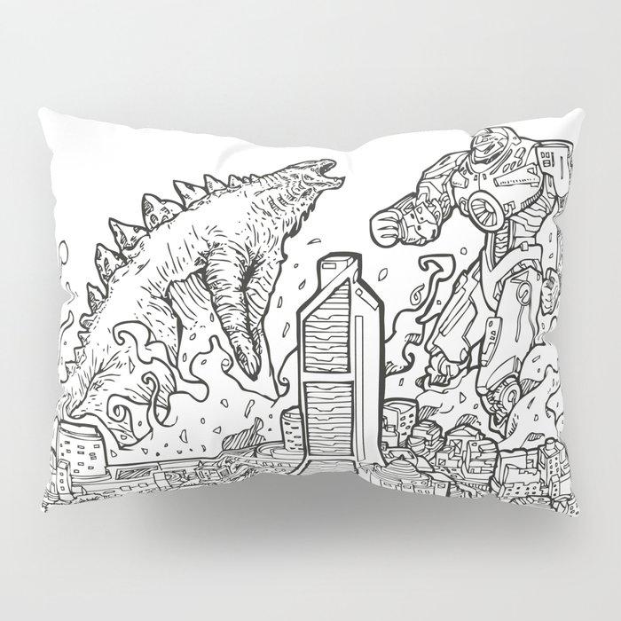 DINOvsROBOTROOPER Pillow Sham