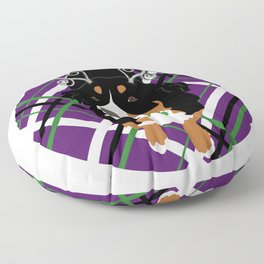 Christmas Holiday Bernese Mountain Dog  Floor Pillow