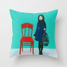 A Blue Bird Throw Pillow