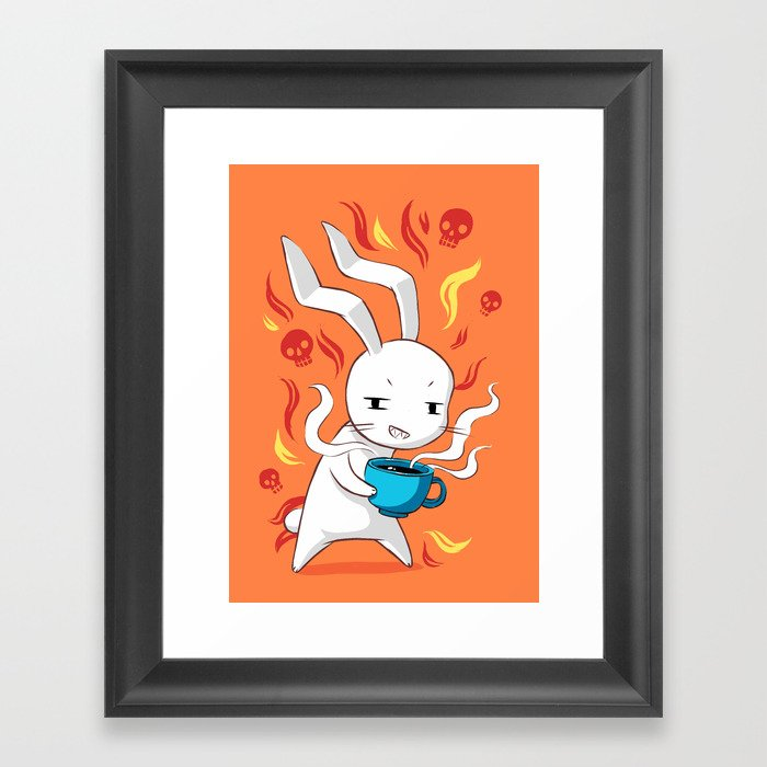 Caffeinated Framed Art Print