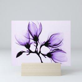 Vintage Magnolia Branch - Purple Mini Art Print