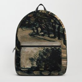 Paul Cezanne - Paris, quai de Jussieu (la halle aux vins) Backpack