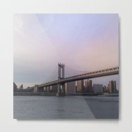 Manhattan Bridge at Sunset Metal Print