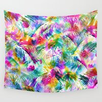 paradise Wall Tapestries featuring Paradise by Schatzi Brown