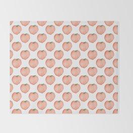 Watercolour Peach Throw Blanket