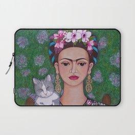 Frida cat lover closer Laptop Sleeve