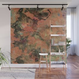 Elegantly Marbleized on Hand-made Paper Wall Mural