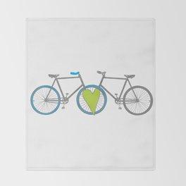 Bikes in Love Throw Blanket