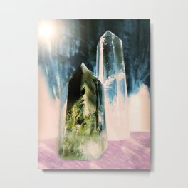 Quartz Points Metal Print
