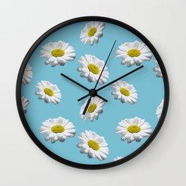 Azul margaridas Wall Clock