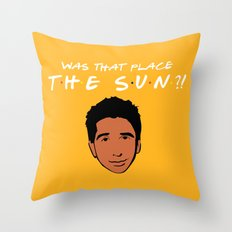 Was that place... The Sun?! - Friends TV Show Throw Pillow
