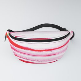 Christmas Candy Cane Red Stripe Fanny Pack
