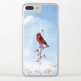 Holly Berry Heaven Clear iPhone Case