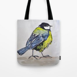 bird on a walk Tote Bag