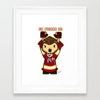 picard Framed Art Prints featuring Mini Picard by Kana Aiysoublood