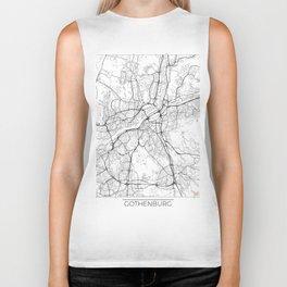 Gothenburg Map White Biker Tank