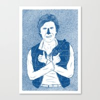 han solo Canvas Prints featuring Han Solo by David Penela