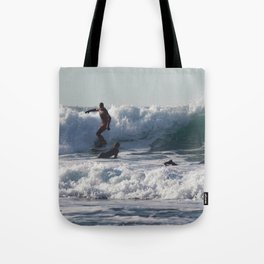 Winter Surfing Tote Bag