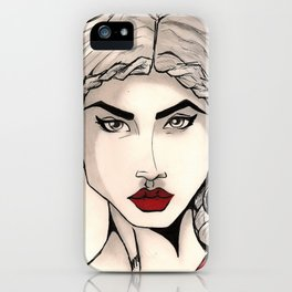 The Woman with the Platinum Hair iPhone Case